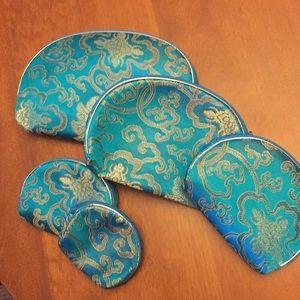 Handbags - Cosmetic trinket bags set of five turquoise NEW